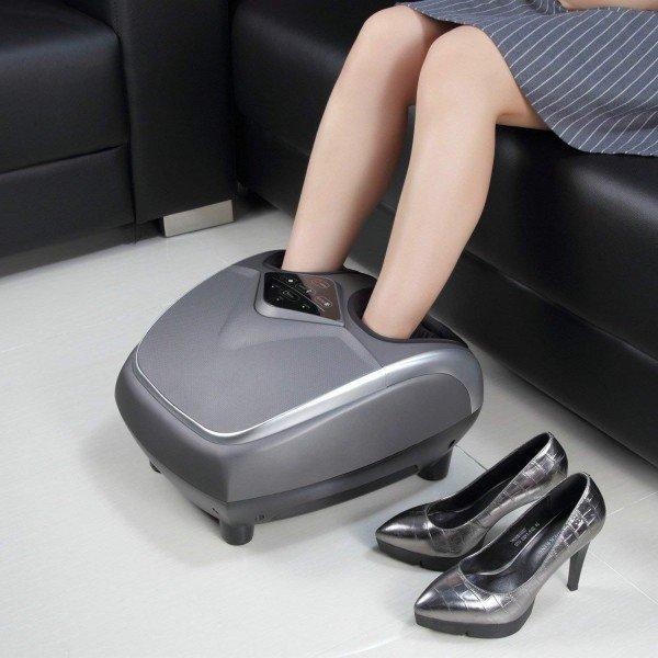 Шиацу Масажор за Крака REXTON FR-F32B с функция за подгряване, почукване и интензивност на масажа
