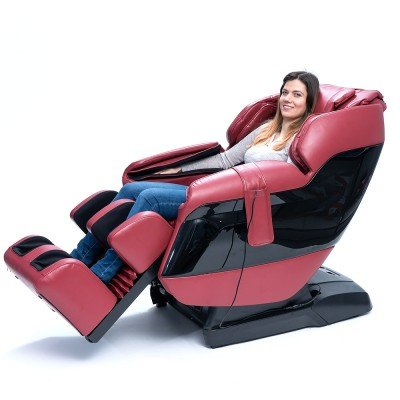 Масажен стол GJ-6200 с интелигентен сканиращ механизъм - Червен