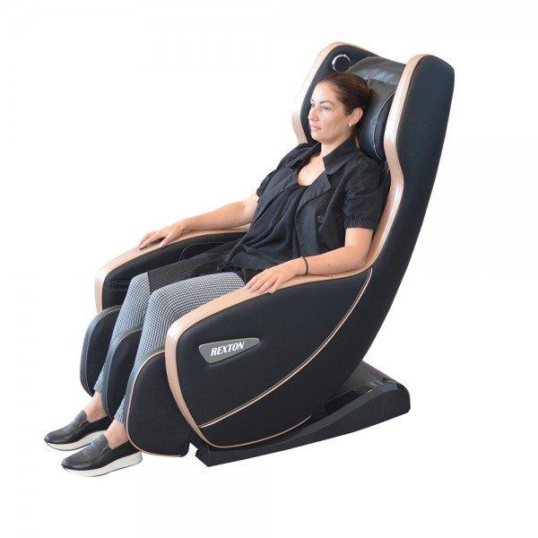 Масажен стол RK-1900B-BL с компактни размери и Bluetooth - черен