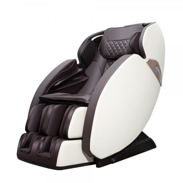 Масажен Стол REXTON S7 с SL-образен масаж и Bluetooth тонколони - кафяво и бяло